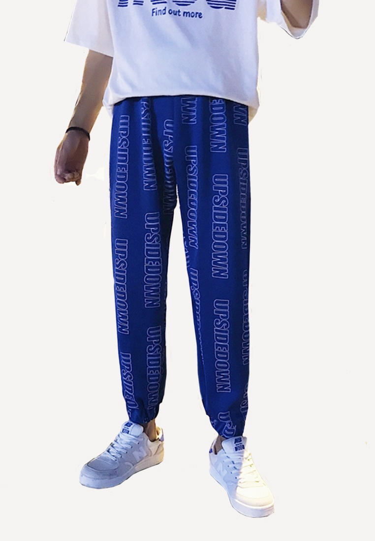 blue Men's hk Pants ehunter Logo Stripe Loose nYgqwzYZ