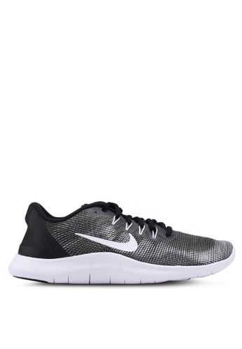 Nike black and white Men's Nike Flex RN 2018 Running Shoes  4CE43SH1E4C295GS_1