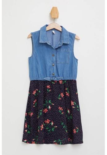 DeFacto blue Girl Denim Dress 27B77KA4E98219GS_1