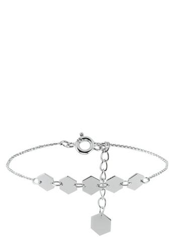CLUSE 銀色 Essentielle Hexagons Chain Bracelet 9A052ACD7A3B6CGS_1