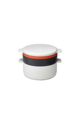 Joseph Joseph Joseph Joseph M-Cuisine 4pcs Stack Microwave Cooking Set - Stone/Orange (247x168x199mm) A9B0FHLDB30AC8GS_1