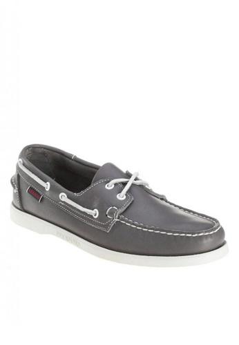 Sebago grey Docksides Loafers B1827SHA28C332GS_1