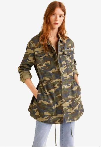 Mango green Parka Camouflage Cotton 8A7E5AAB0364B8GS_1