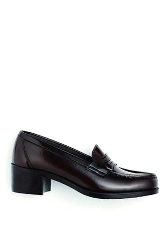 HARUTA 褐色 高跟樂福皮鞋-4603 D6D02SHCE063EAGS_1
