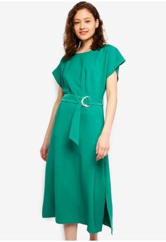 e0daa7b56b9 CLOSET green Kimono Midi A-Line Dress 1641AAA69C532CGS 1
