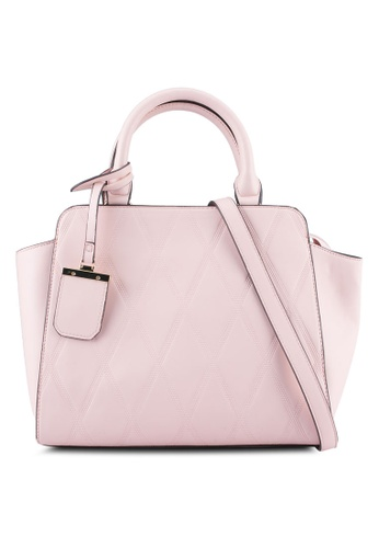 ZALORA pink Large Stitch Detail Top Handle Bag 9E19AZZ6F721ACGS_1