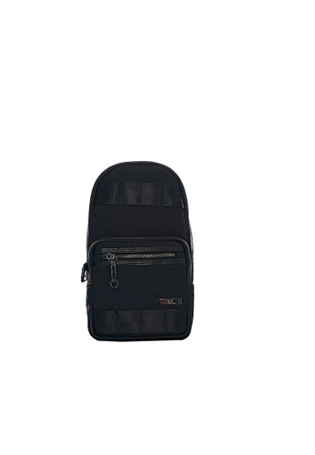 Renoma black Dennis Cross Shoulder Sling Bag 2658AACCC46F2DGS_1