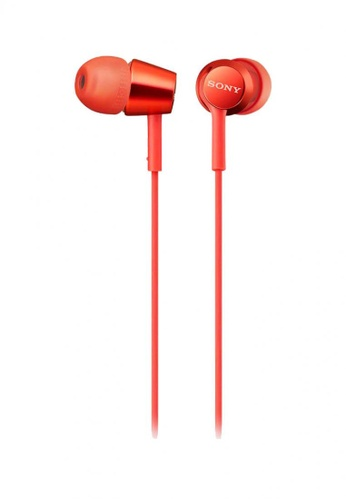 Sony red Sony MDR-EX155 AP In-Ear Headphones - Red F7022ESBB89159GS_1