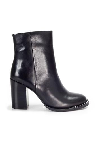 Shu Talk 黑色 Amaztep 氣質高跟中靴 5E83CSH844A59DGS_1