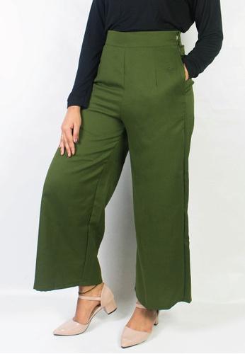 Zaryluq green Culottes in Matcha 84E31AAC7EF054GS_1