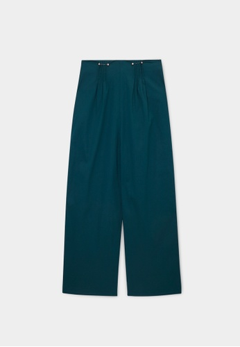 Pomelo green Sustainable High Waist Trousers - Green 9BCC2AA19CC98FGS_1