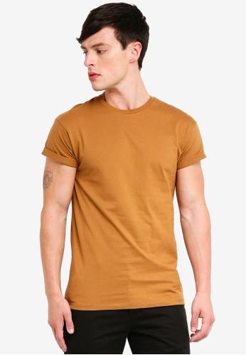 Topman 褐色 短袖T恤 298E4AA7C525E6GS_1