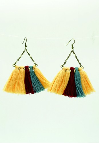 JOGLO AYU TENAN yellow JOGLO AYU TENAN Yellow Tassel Earrings B7D38ACC4D7E31GS_1