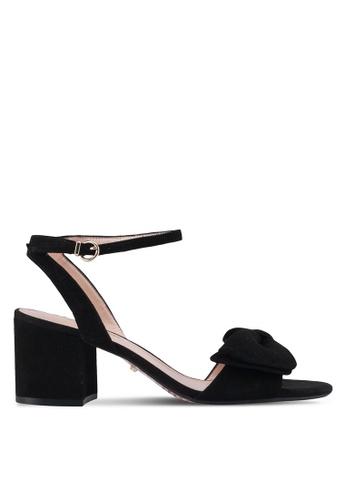 Dune London black Bow Detail Block Sandals A484DSH84AB93FGS_1