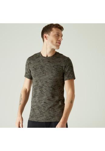 Decathlon Slim-Fit Cotton Fitness T-Shirt Print - 864312 66097AAC817726GS_1