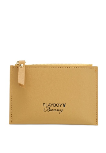PLAYBOY BUNNY yellow Women's Card Holder With Coin Compartment / Card Case 81196AC7E7FA7CGS_1