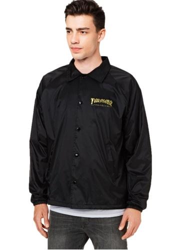 3bc33665cd40 Thrasher black Thrasher Pentagram Coach Jacket Black 7C8A7AACC5F0A6GS 1