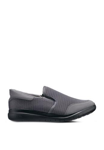 UniqTee grey Lightweight Slip-On Sport Sneakers 68466SH60E2C1FGS_1