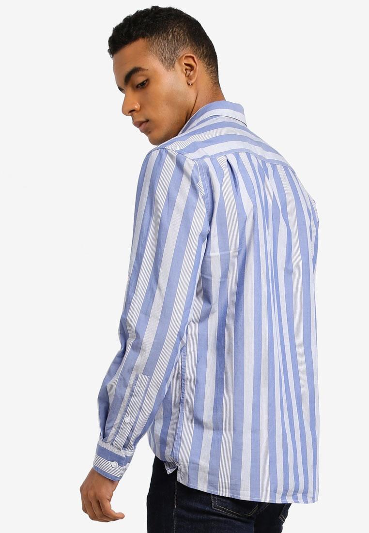MANGO Shirt Shirt Man Medium Blue MANGO PETqawxdq
