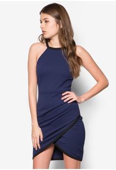 Jersey Wrap Bodycon Mini Dress