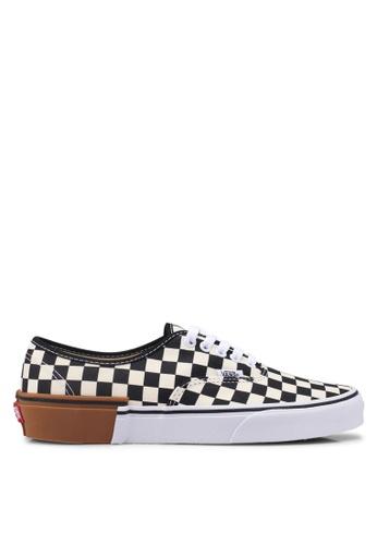 VANS black and white Authentic Gum Block Sneakers 55C88SH4DBEEA6GS_1