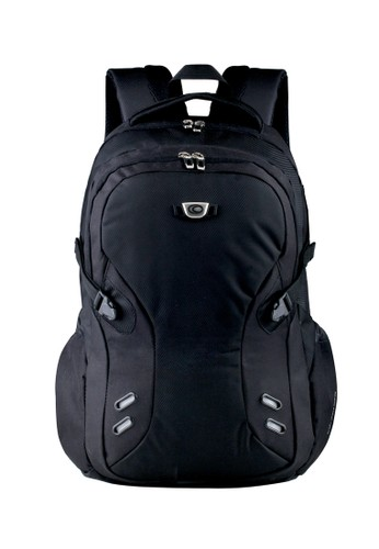 Ozone black Ozone Laptop Backpack 152 Carbonize  + Raincover - Hitam OZ386AC14VGJID_1