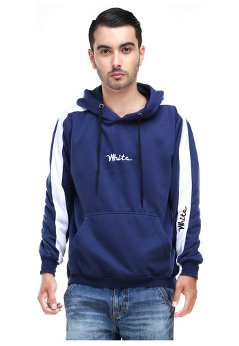 Hamlin navy Hamlin Clover Jaket Sweater Hoodie Pria White Motive Casual Jacket Material Fleece ORIGINAL DEAA5AACD850C1GS_1