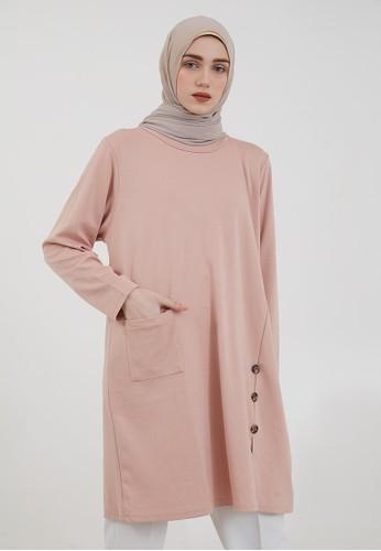 Hijabenka pink Sephia Visya Long Blouse Pink 2DF11AA7A6188FGS_1
