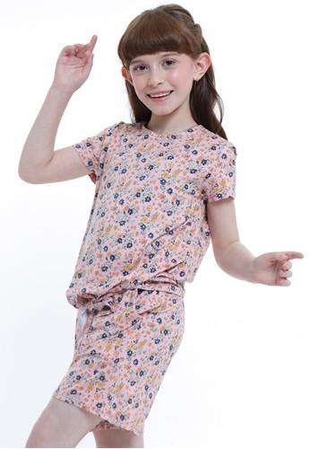 EXIT GIRL orange Flowery Peach Fullset Homewear 81FC4KADFC4968GS_1