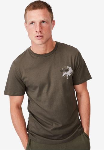 Cotton On green Tbar Art T-Shirt FA12EAA9791E2CGS_1