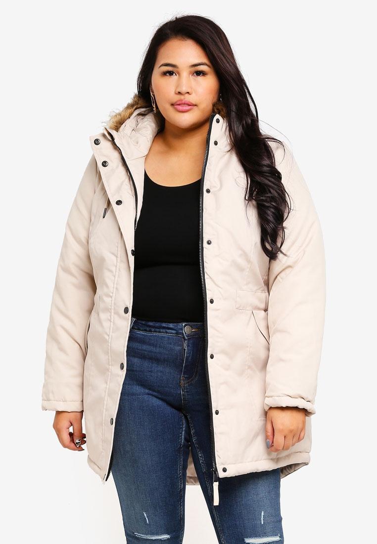 Plus Size Jacket Parka Junarose Oatmeal 1BPdnq1v