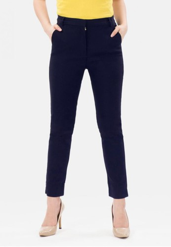 MKY Clothing navy Ankle Pants Stretch in Navy B1B2FAAB166939GS_1