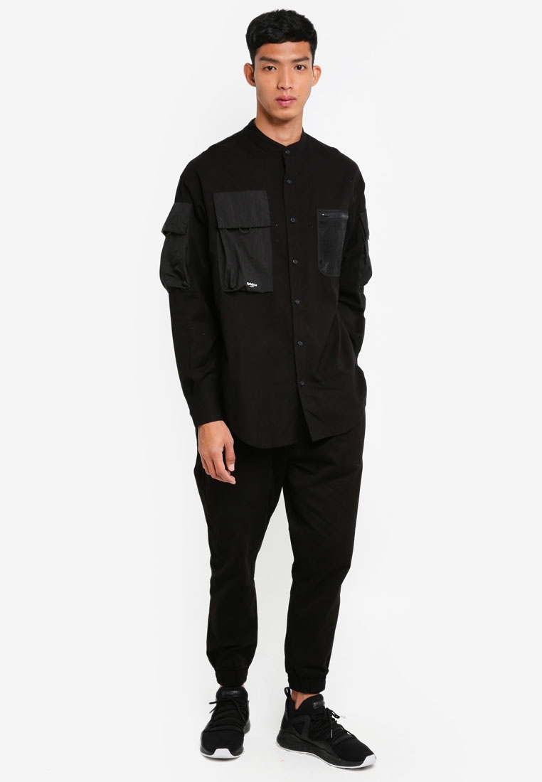Alpha Black Shirt Long Style Aisley wnqf0YxO