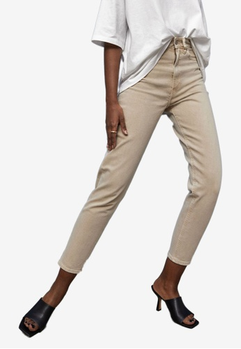 H&M beige Slim Mom High Ankle Jeans 69EF2AA5D1A851GS_1