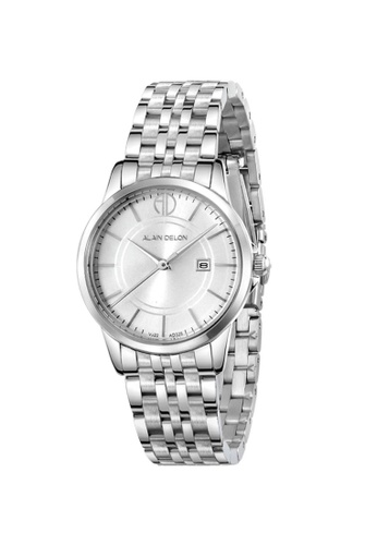 Alain Delon silver Alain Delon Women AD328-2312 Silver Stainless Steel Watch 17485AC73819B2GS_1