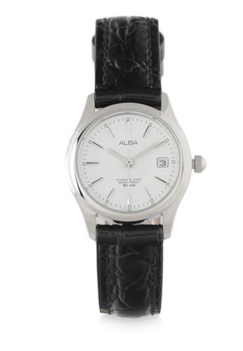 ALBA Jam Tangan Wanita - Black Silver - Leather Strap - AXU035X1 - Zalora 88837768f3