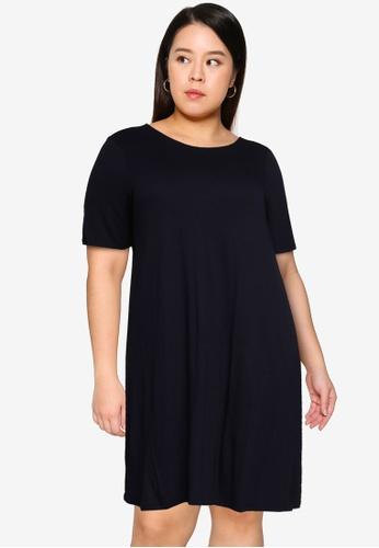 Only CARMAKOMA navy Plus Size Bandana Dress D19BFAAB06D60FGS_1