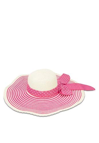點點印花圓頂草帽, 飾品配件, 飾品esprit 品牌配件