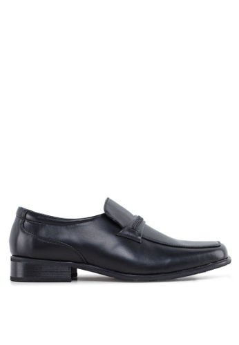 Louis Cuppers black PU Leather Dress Shoes LO977SH02ZVPMY_1