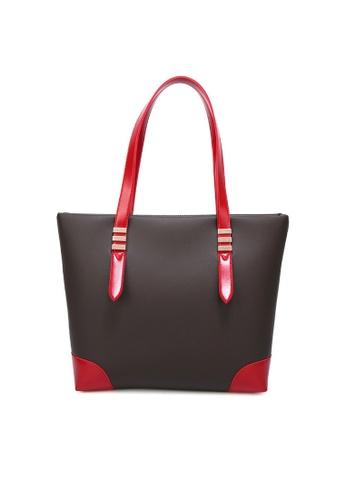Lara black and red Women's Shoulder Bag D7B13AC2502EF2GS_1
