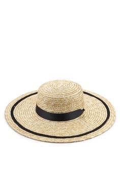 983812a0a6000 Mango brown Contrast Ribbon Hat 6DC43AC81E3B03GS_1