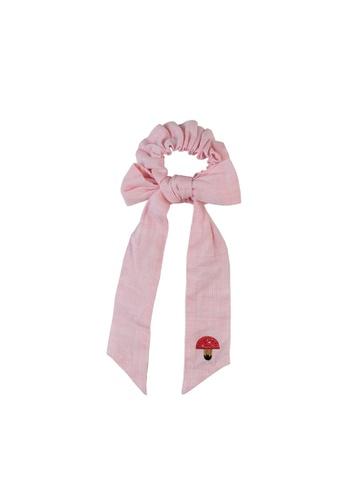 Vauva pink Vauva Girls Mushroom Hair Elastic Band - Pink 4ED53KC54E1B97GS_1