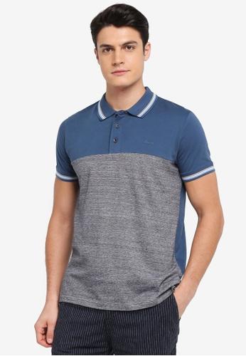 ESPRIT blue Short Sleeve Polo Shirt 2D7D2AA7C8D51AGS_1