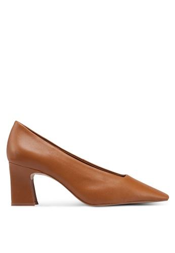 d717debc7865 Shop MANGO Heel Leather Shoes Online on ZALORA Philippines