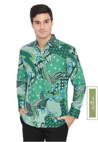 Agrapana green Bayu Baju Kemeja Hem Batik Slimfit Pria Cowok Lengan Panjang Modern Premium Laki Laki 2AB6FAAAFDCAAEGS_1