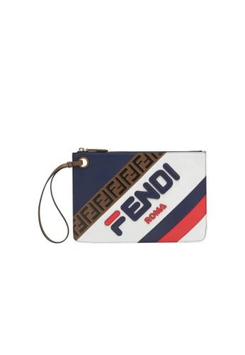 Fendi multi FENDI FENDIMANIA MEDIUM FLAT CLUTCH B752AAC445A1DCGS_1