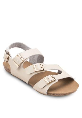 扣環帶休閒涼鞋,esprit outlet 台灣 女鞋, 涼鞋