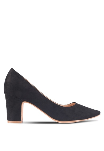 ZALORA black Minimalist Low Heels 867B1SHE164D66GS_1
