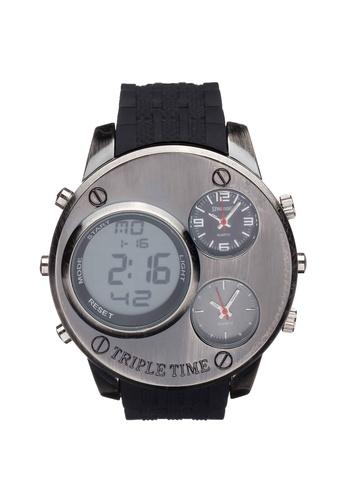Spalding black SP-056 Watch 7F72BAC1483F77GS_1
