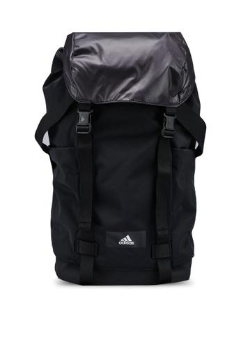 ADIDAS black id true sport flap backpack 5B384AC964BEB8GS_1